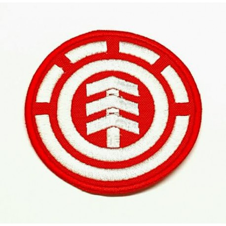 textile embroidery patch RED ELEMENT 7,5cm