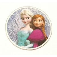 Embroidery Patch FROZEN ELSA AND ANA 7,4cm