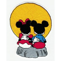 Parche bordado MICKEY Y MINNIE 8cm x 10cm