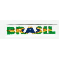 Patch embroidery BRASIL 12cm x 3cm
