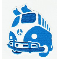 VOLKSWAGEN T1 embroidered patch SURF BLUE vw 8,5cm x 9,5cm