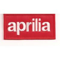 Patch embroidery APRILIA RED 8,5cm x 4,5cm
