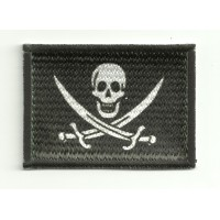 Patch embroidery and textile PIRATE FLAG SWORD - CALICO JACK 7 cm x 5 cm