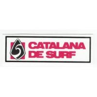 Textile patch CATALANA FEDERATION OF SURF 9cm x 3cm