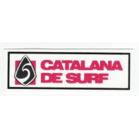 Parche textil FEDERACION CATALANA DE SURF 18cm x 6cm