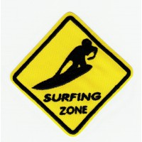 SURFING ZONE embroidered patch SURF 15cm x 15cm