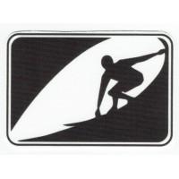 Textile patch WAVE SURF 8cm x 5,5cm