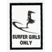 SURFER GIRLS textile embroidery patch 5cm x 7cm