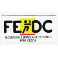 Embroidery and textile patch FEDERACIÓN ESPAÑOLA DE DEPORTES PARA CIEGOS 8,5cm x 4,5cm