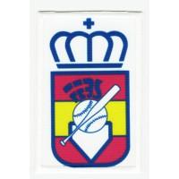 Parche bordado y textil FEDERACIÓN ESPAÑOLA DE BEISBOL 5,5cm x 8,5cm