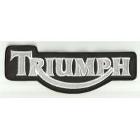 Parche bordado TRIUMPH BLANCO Y NEGRO 10cm x 4cm