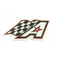 Patch textile AMERICAN RACE TRIES 8cm x 4cm