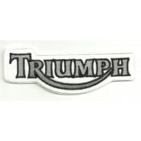 Patch embroidery TRIUMPH BLANCO Y GRIS 10cm x 4cm