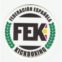 Embroidery and textile patch FEDERACIÓN ESPAÑOLA DE KICKBOXING 7,5cm
