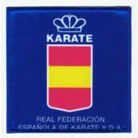 Parche bordado y textil REAL FEDERACIÓN ESPAÑOLA DE KARATE Y D.A. 7,5cm