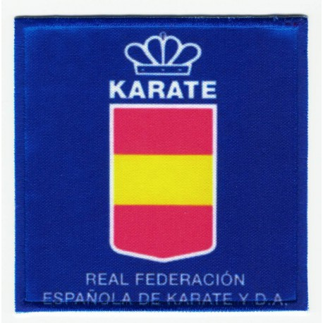 Embroidery and textile patch REAL FEDERACIÓN ESPAÑOLA DE TAEKWONDO Y D.A. 7,5cm