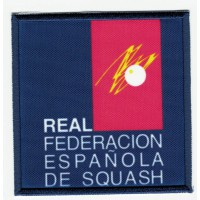 Embroidery and textile patch FEDERACIÓN ESPAÑOLA DE SQUASH 7,5cm x 7,5cm