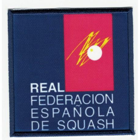 Embroidery and textile patch FEDERACIÓN ESPAÑOLA DE TRIATLÓN 7,5cm x 7,5cm