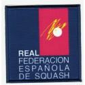 Embroidery and textile patch FEDERACIÓN ESPAÑOLA DE SQUASH 7,5cm x 7,5cm