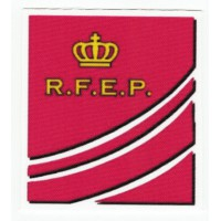 Parche textil REAL FEDERACIÓN ESPAÑOLA DE PATINAJE 7cm x 7,5cm