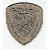 Patch embroidery BLAUER beige 6,5cm x 8cm