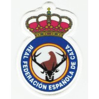 Textile patch REAL SPANISH FEDERATION OF HUNTING 5,5cm x 8cm