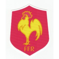 textile patch FRENCH RUGBY FEDERATION 7.5 cm x 9.5 cm