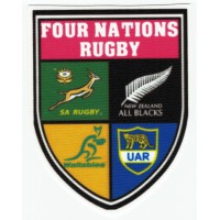 Textile patch FOUR NATIONS RUGBY 7cm x 9cm