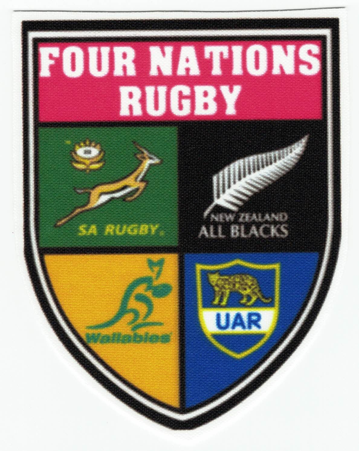 Textile Patch Four Nations Rugby 7cm X 9cm Los Parches