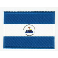 Patch embroidery and textile FLAG NICARAGUA 4CM x 3CM