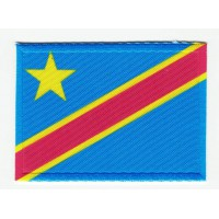Patch embroidery and textile FLAG BANDER0A REPUBLICA DEMOCTICA DEL CONGO 7CM x 5C