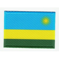 Patch textile and embroidery RWANDA FLAG 7CM X 5CM