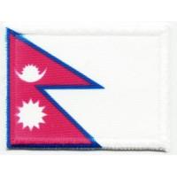 Parche textil y bordado BANDERA NEPAL 4CM x 3CM