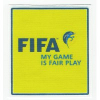 Parche textil FIFA MY GAME IS FAIR PLAY 7cm x 7,5cm