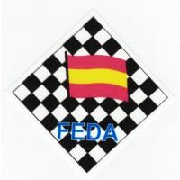 Embroidery and textile patch FEDERACIÓN ESPAÑOLA DE AJEDREZ 8.5cm x 8,5cm