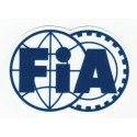 Embroidery and textile patch FIA Federation Internationale de l'Automobile 8cm x 6cm