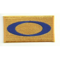 embroidery patch OAKLEY YELLOW 4cm x 2cm