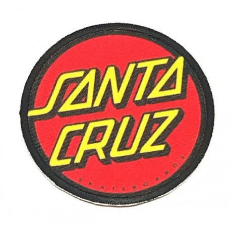 SANTA CRUZ textile embroidery patch 5cm