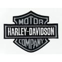 Parche bordado HARLEY DAVIDSON GRIS 7,5cm x 6cm