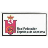 Parche textil REAL FEDERACIÓN ESPAÑOLA DE ATLETISMO 8,5cm x 4,5cm