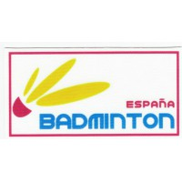 textile patch FEDERACIÓN ESPAÑOLA DE BADMINTON 9cm x 4,5cm