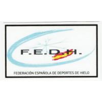 Parche textil FEDERACIÓN ESPAÑOLA DE DEPORTES DE HIELO 8,5cm x 5cm