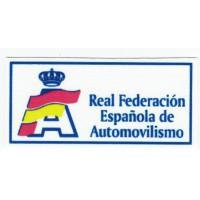 Parche textil REAL FEDERACIÓN ESPAÑOLA DE AUTOMOVILISMO 8cm x 4cm