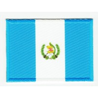 Patch embroidery and textile FLAG GUATEMALA 4CM x 3CM