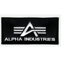 ALPHA INDUSTRIES embroidered patch 10 cm x 4.5 cm