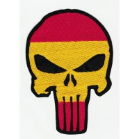 Parche bordado EL CASTIGADOR ( The punisher ) BANDERA DE ESPAÑA 7,5cm x 10,5cm