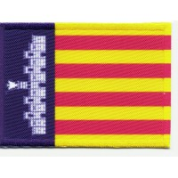 Patch textile and embroidery FLAG MALLORCA 7CM X 5CM