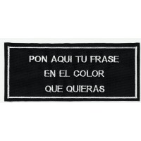 Embroidery Patch LAS FRASE GOTIC BLANCO/NEGRO 14cm x 6cm