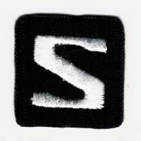 Parche bordado LOGO SALOMON NEGRO 2,8cm x 2,8cm