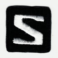 Embroidered patch LOGO BLACK SALOMON 2,8cm x 2,8cm